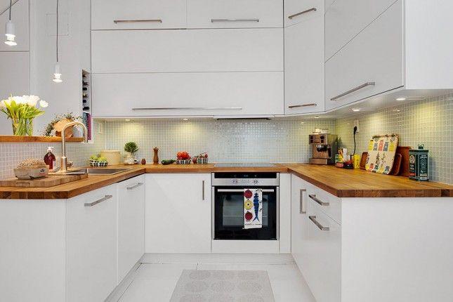 Znalezione obrazy dla zapytania kuchnia biała z drewnem inspiracje