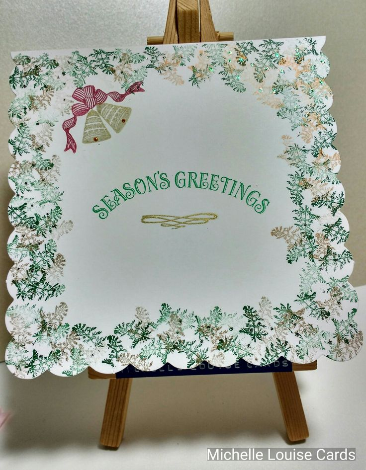 Tapestry Peg stamps Christmas card