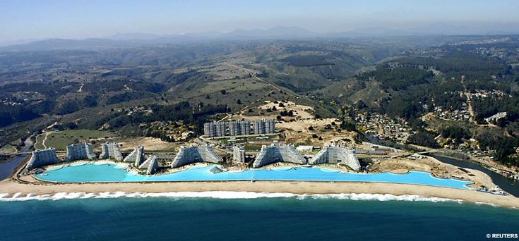 Chile- world's largest swimming pool... it's 1,000 yards long
