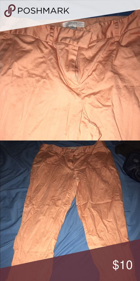 Forever 21 peach pants Dress pants good for interviews Pants Ankle & Cropped