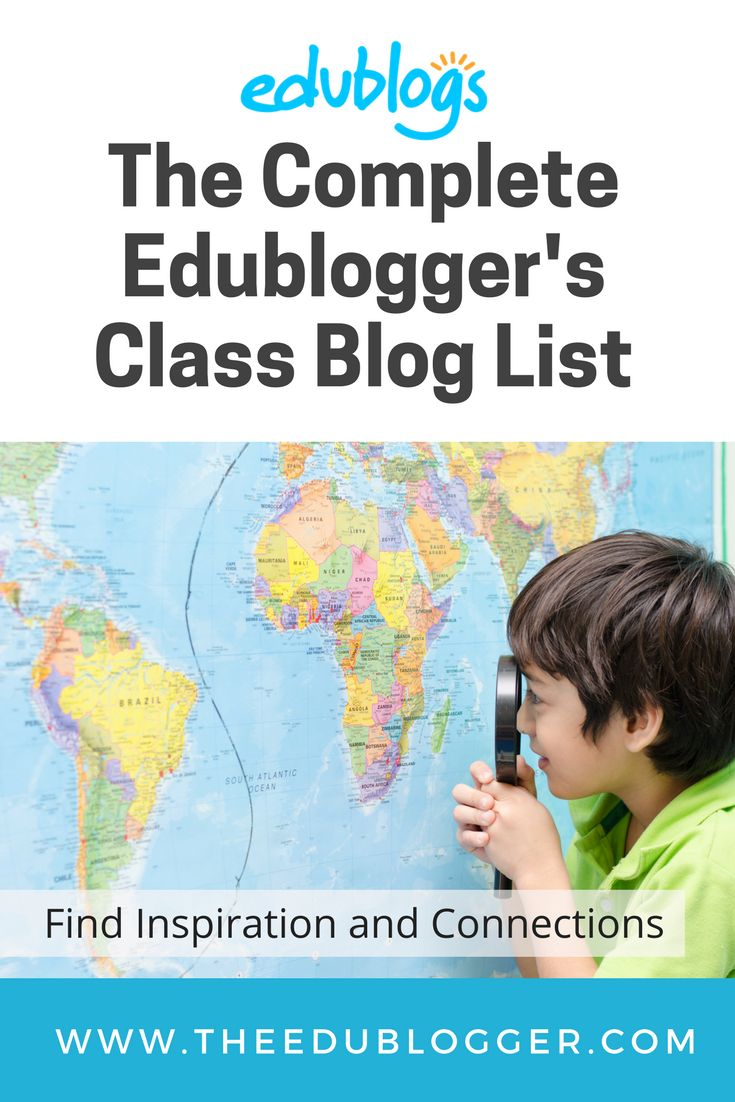 The Complete Edublogger's Class Blog List | Find inspiration and connections, or add your class blog to the list | Edublogs