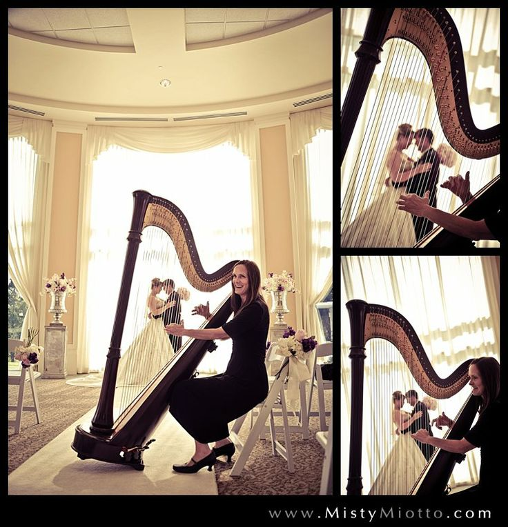 Photos By Misty Miotto Orlando Harpist Christine Macphail After The Wedding Ceremony With Bride And