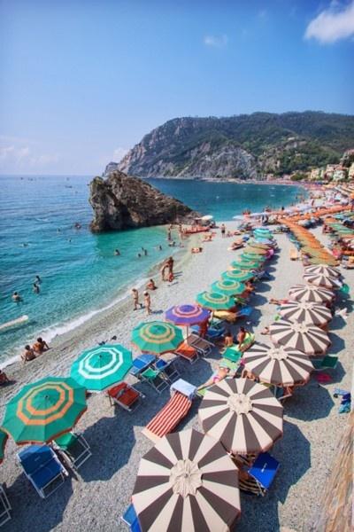 oh la la #paradise #vacation #beach #umbrella #travelCinqueterre, Oneday, Cinque Terre Italy, Amalfi Coast, At The Beach, Beach Umbrellas, Places, Beach Time, French Riviera