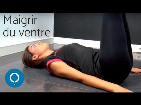 Maigrir  du ventre rapidement : exercices - YouTube