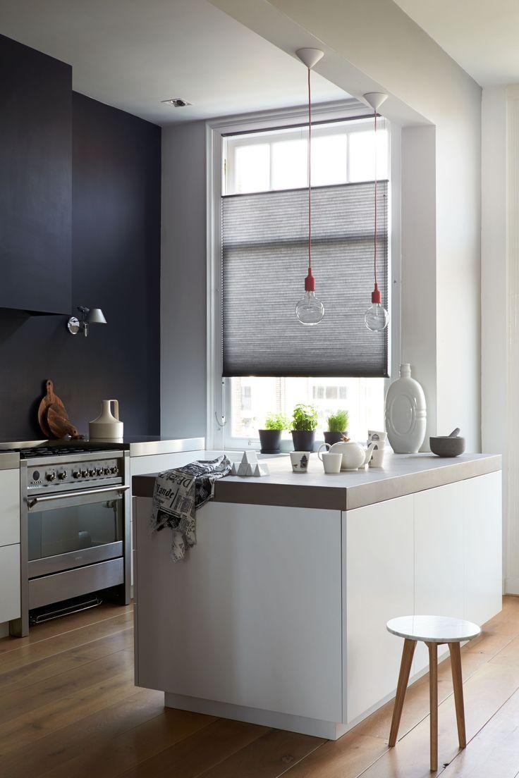 gray black and white modern kitchen