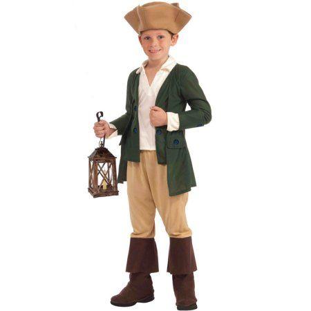 Boys Paul Revere Halloween Costume