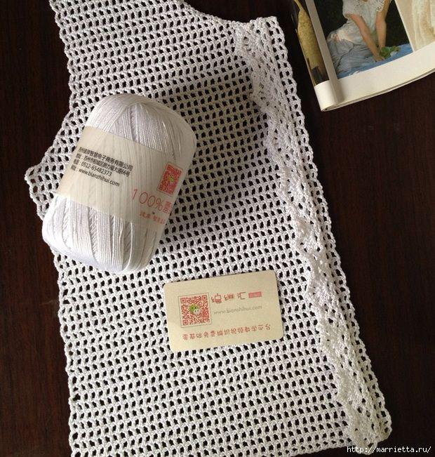Белая кофточка филейным вязанием с рюшами (6) (620x651, 362Kb)