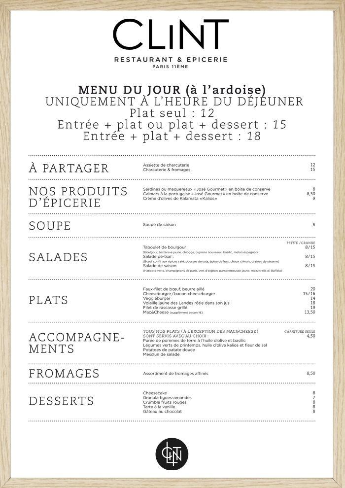 menu layout