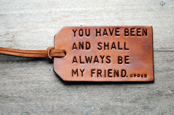 So sweet :)Spock Kirk, Startrek Friendship, Gift Ideas, Bff, Gift Cards, Friendship Memories, Friends Zone, Friendship Quotes, Startrek Quotes