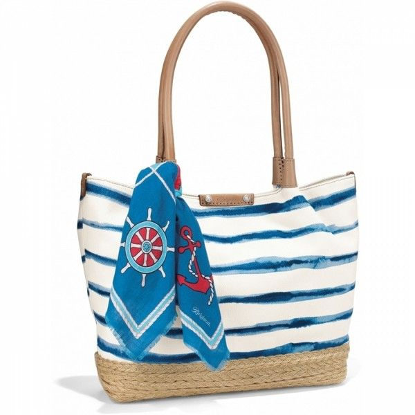 Indigo Espadrille Tote (97 KWD) ❤ liked on Polyvore featuring bags, handbags, tote bags, striped tote, white purse, white tote bag, nautical tote and striped tote bag