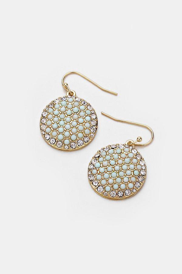 Mint Disc Earrings