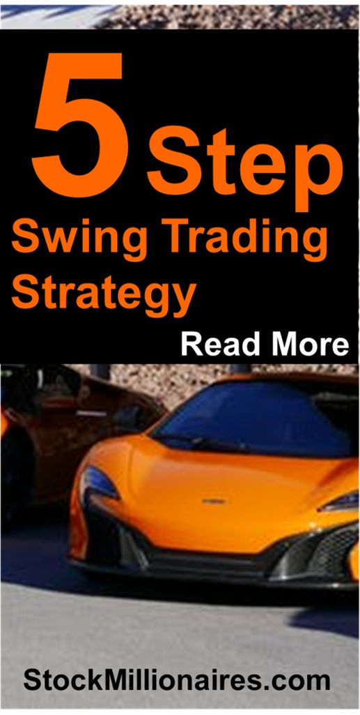 Check out this simple 5 step strategy to stock trading success! This swing trading strategy is used by millionaire traders to make literally millions of dollars trading every year!