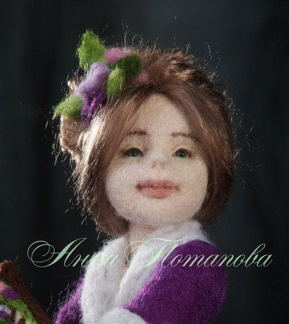 Needle felted doll Brownie Sophie von AnnPot auf Etsy