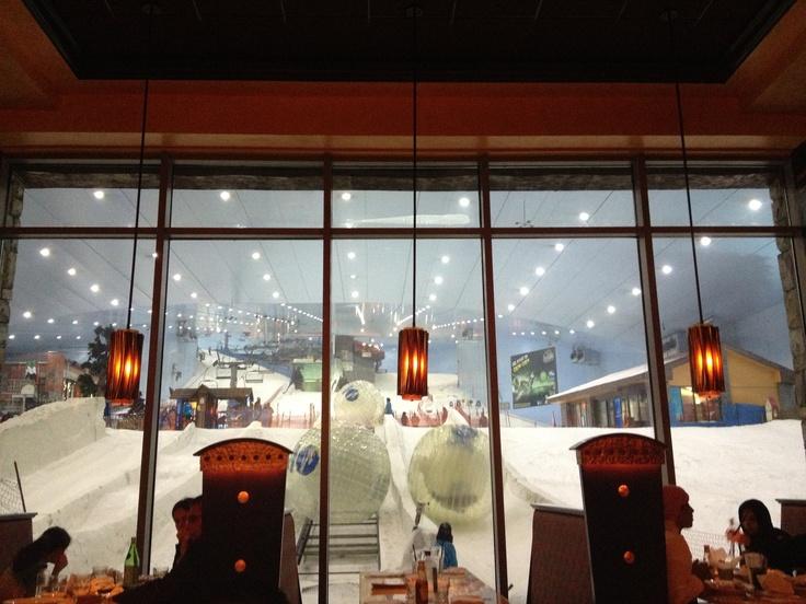 Dubai ski dome, inside the cheesecake factory