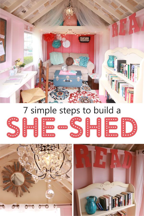 We love she sheds and the idea of having your own personal space to folk it! Here's 7 easy and affordable steps of how you can design your own.