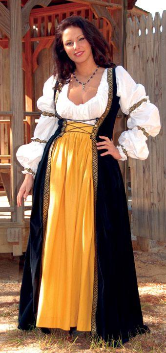 Robe du Soir Gown - Medieval Renaissance Clothing, Costumes