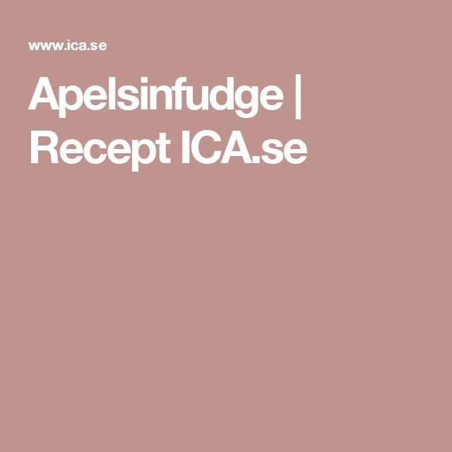 Apelsinfudge | Recept ICA.se