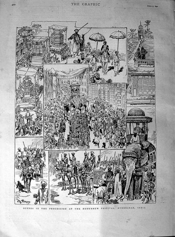 Scenes in the procession at the Mohurrum festival - Muharram - Wikipedia, the free encyclopedia