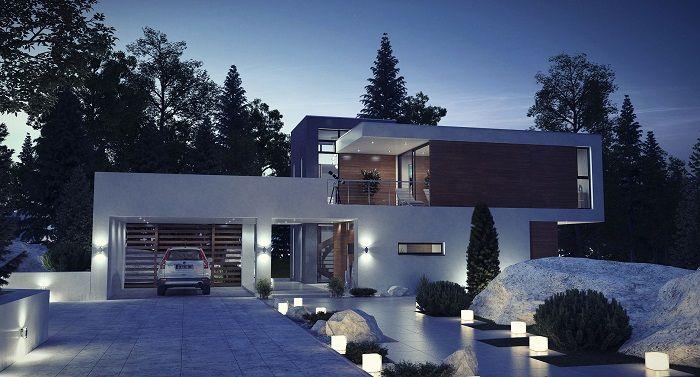 Стиль Hi-Tech, строительство коттеджей в стиле Хай Тек, проекты домов в стиле Хай Тек