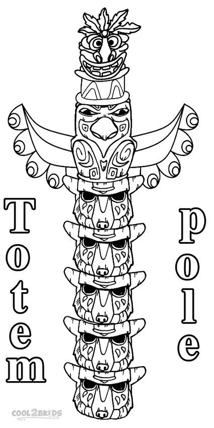 448 best miscellaneous coloring pages images on pinterest for Totem pole design template