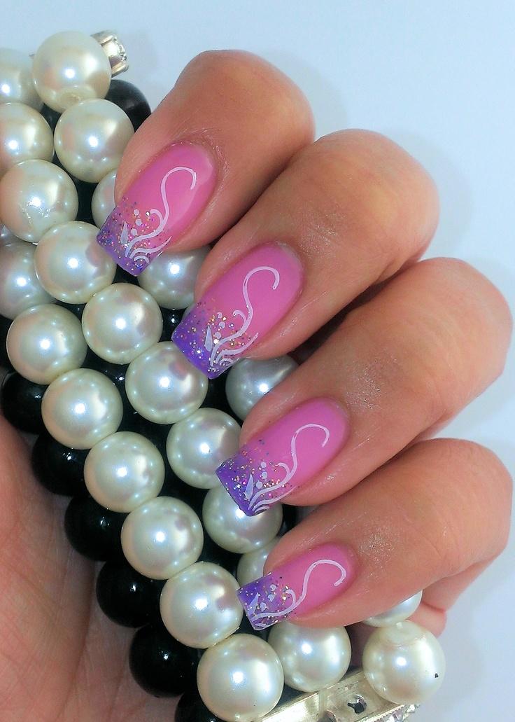 52 best gel ii reaction nail art images on pinterest gel polish gel ii lei me with cool tips and geluv dazling diva pink purple prinsesfo Images
