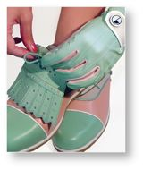 Golf Shoes, it would be hard to replace my comfy red nikes, but these are cute