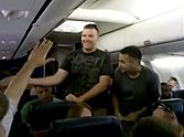 U.S. Marine Sings Home by Michael Buble on a Plane - So Touching!