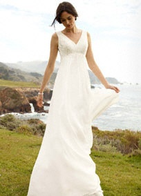 David's Bridal | Bridal Gowns | Features | All Gowns | Bridal Gowns Under $600: David Bridal, Wedding Dressses, Bridal Collection, Illusions Lace, Lace Appliques, Wedding Dresses, Lace Back, Chiffon Sheath, Soft Chiffon