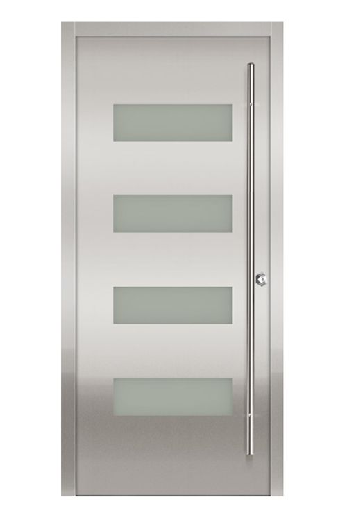 Stainless Steel Door from Milano Doors  sc 1 st  Pinterest & 21 best Doors images on Pinterest | Entry doors Modern entry and ... pezcame.com