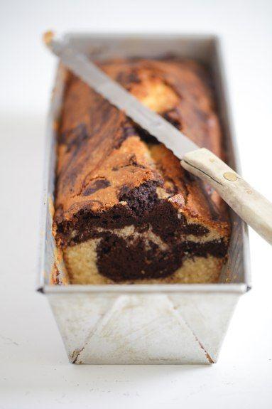 Mramorový  koláč s džemom