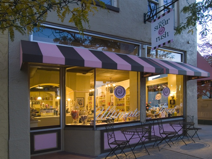 A magical retro #candy shop at dusk. #Lola'sSugarRush