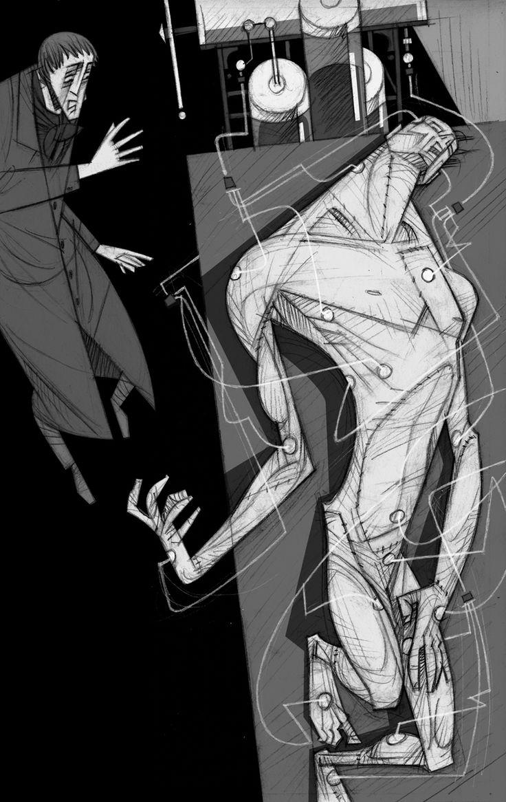 Frankenstein ilustracion paco gimenez