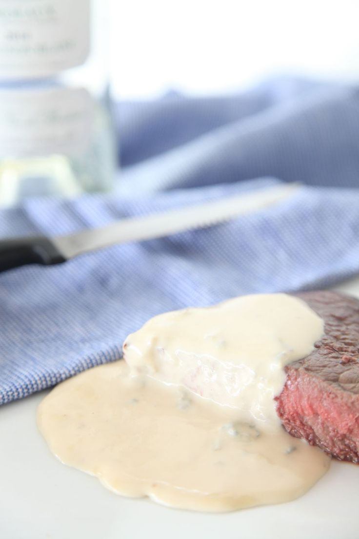 This thick and creamy blue cheese sauce recipe is perfect to serve with a hearty cut of steak. Choose a sturdy variety of cheese for the best result.