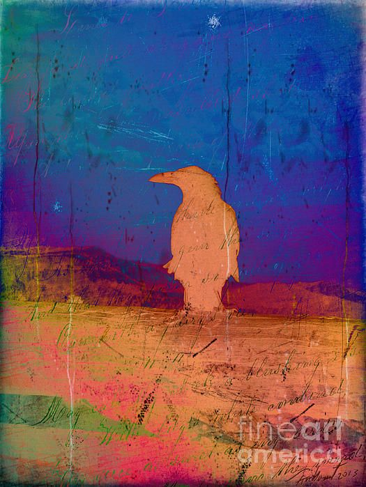 Raven's Respite by Meghan at FireBonnet Designs #abstract #color #poe