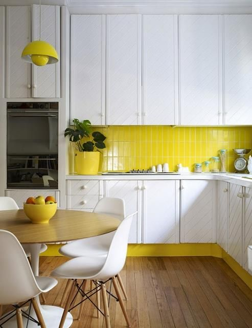 Yellow interior: modernising an older kitchen