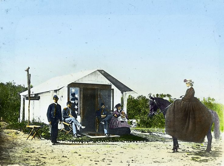 """Undated photo """"Winter Quarters"""" check out the dress but I'd prefer to own her horse!"""