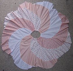 Spiral skirt patterns