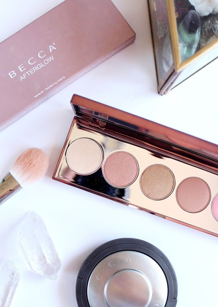 BECCA COSMETICS | Afterglow Palette - Review Swatches - CassandraMyee
