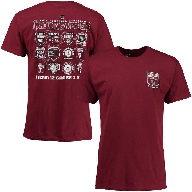 South Carolina Gamecocks 2015 Football Schedule Patch T-Shirt - Garnet - $19.99