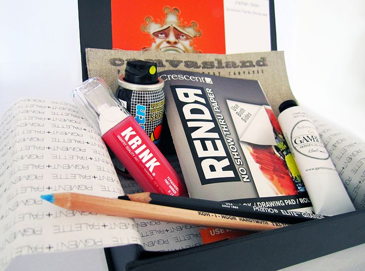 monthly art subscription box brands working with p p