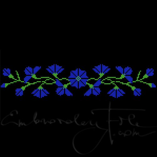 Cornflowers in cross stitch II C