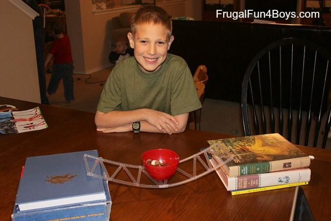 Engineering for Kids: Build a Bridge with Straws and Straight Pins - Frugal Fun For Boys