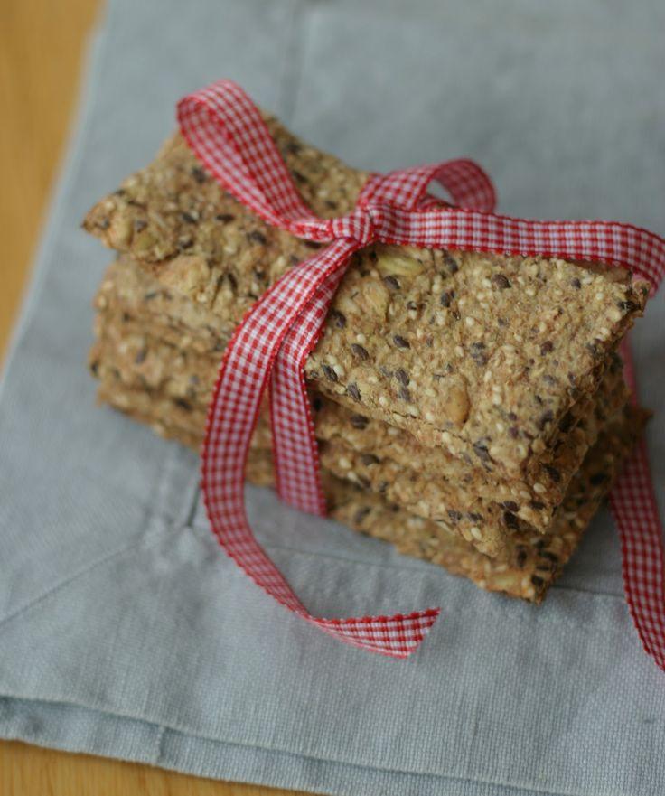 Marias Salt og Søtt: Glutenfritt knekkebrød(Gluten free crisp breads)