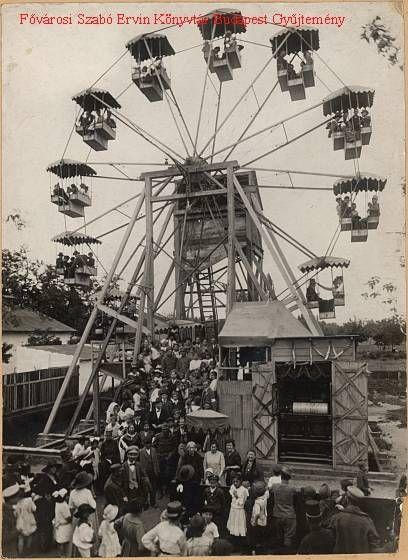 Budapest anno: több, mint nosztalgia...: Ilyen volt... a Vidám Park (1. rész) - Óriáskerék, Müllner János felvétele, 1910 körül
