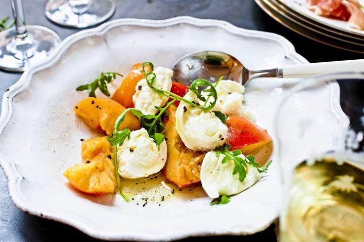Burrata med nektariner och rucola | Recept - Zeta