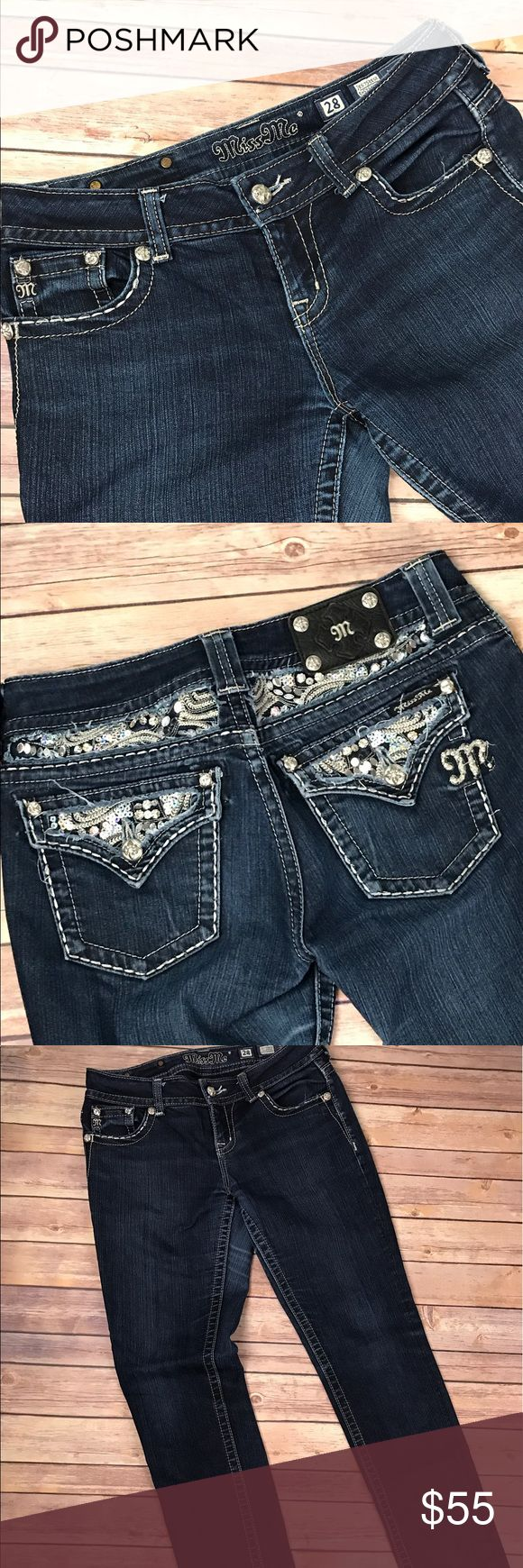 """Miss Me Jeans Size 28 Easy Skinny Miss Me Jeans Size 28 Easy Skinny. These Jeans are in excellent condition!!!! It has a 31"""" inseam Miss Me Jeans Skinny"""