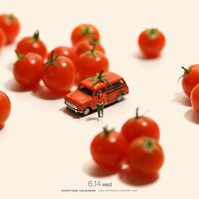 """. 6.14 wed """"Tomato Car"""" . こんなところにトマトが停まっとる。 . . #トマト #車 #Tomato #Car #このあとおいしくいただきました . #Regram via @tanaka_tatsuya"""