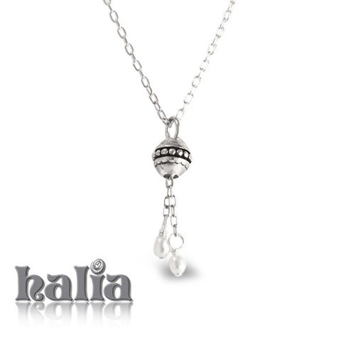 Lariat with Fresh Water Pearls (28 or 36 inches): A delicate lariat piece to showcase your favorite Halia charms, accented with fresh water pearls. The Halia lariat necklace also accepts charms from most competing charm systems. Sterling silver, hypo-allergenic and nickel free.     $60.00
