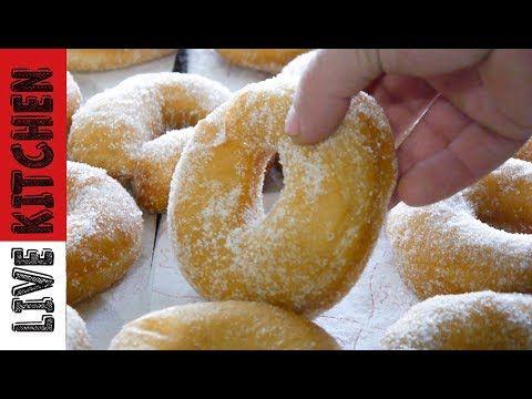 (9) Πως να φτιάξετε Λουκουμάδες παραλίας - How to make perfect Donuts recipe Live Kitchen - YouTube