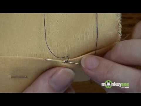 Sewing - The Slip Stitch - YouTube
